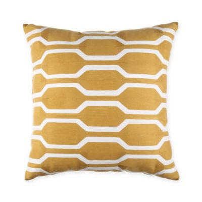Joann 18-Inch Square Throw Pillow in Yellow - Bed Bath & Beyond
