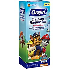 image of Orajel™ 1.5 oz. Paw Patrol Training Toothpaste in Fruity Fun