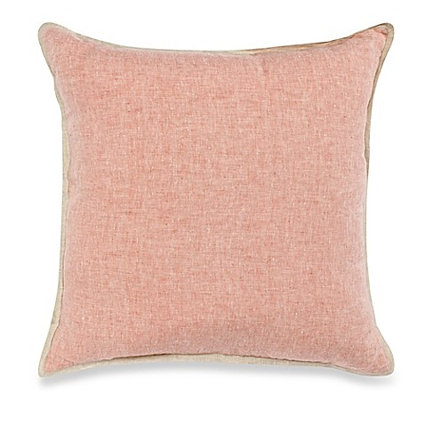 Throw Pillow Rust : Buy Carly Linen Square Throw Pillow in Rust from Bed Bath & Beyond