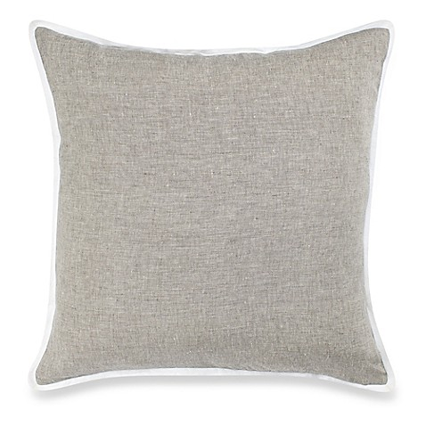 Buy Carly Linen Square Throw Pillow in Grey from Bed Bath & Beyond
