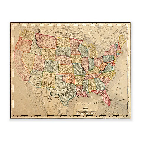 Vintage U.S. Map Wall Art Collection - Bed Bath & Beyond