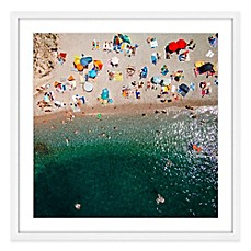 Image Of Marmont Hill Packed Beach Framed Wall Art