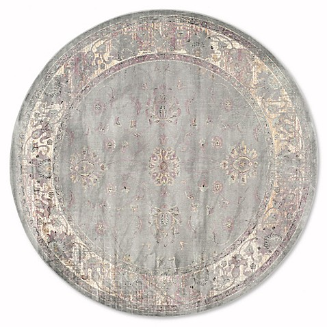 Buy safavieh vintage olivia 6 foot round area rug in grey for Where to buy round rugs