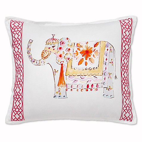 Elephant Throw Pillow Bed Bath And Beyond : Buy Dena Home Amara Elephant Oblong Throw Pillow in Pink from Bed Bath & Beyond
