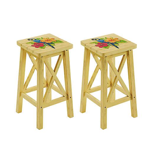 Margaritaville Outdoor Parrot Bar, Outdoor Tiki Bar Chairs