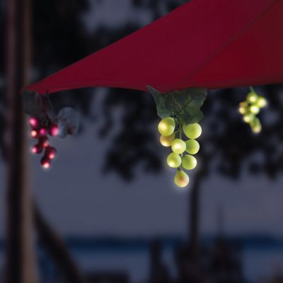 String Lights On Umbrella : Solar 64-Bulb LED Grapevine Garland Umbrella String Lights - Bed Bath & Beyond
