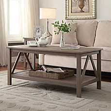 image of Titian Pine Coffee Table in Rustic Grey