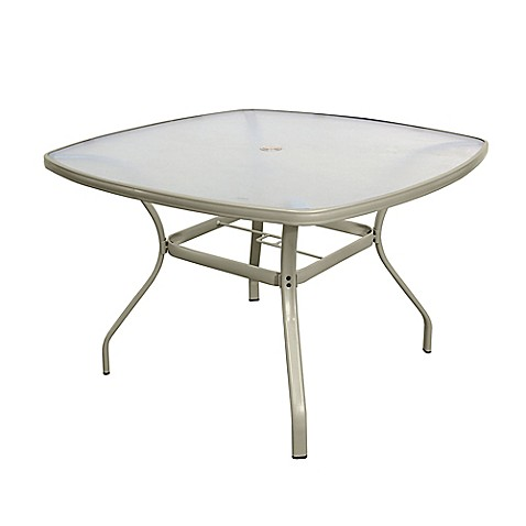 Tempered glass dining table in jasmine bed bath beyond for Tempered glass dining table