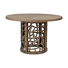 image of INK+IVY Crackle Round Dining Table in Natural
