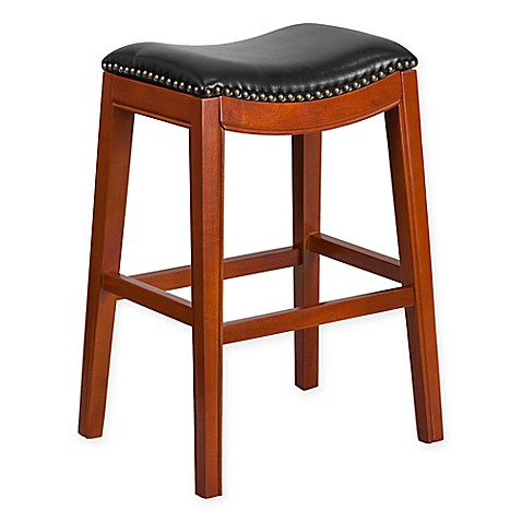 Buy Flash Furniture Wood 30 Inch Backless Bar Stool In