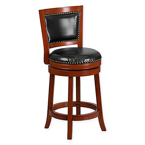 buy flash furniture padded back swivel counter stool in