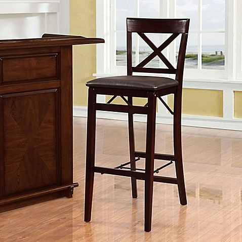 Buy Triena X Back Folding Barstool In Espresso From Bed
