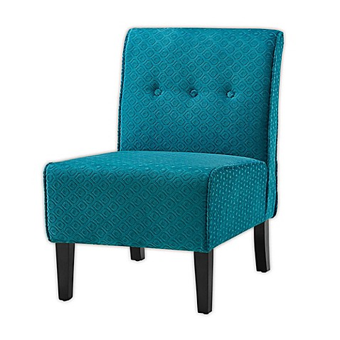 Buy coco polyester accent chair in teal black from bed - Dark teal accent chair ...
