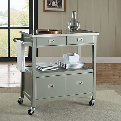 kitchen island microwave cart sydney kitchen cart in grey bed bath amp beyond 19760