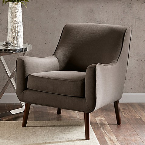 Madison Park Oxford Accent Chair In Grey Bed Bath Amp Beyond