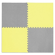 image of Tadpoles™ by Sleeping Partners Play Mat in Yellow/Grey