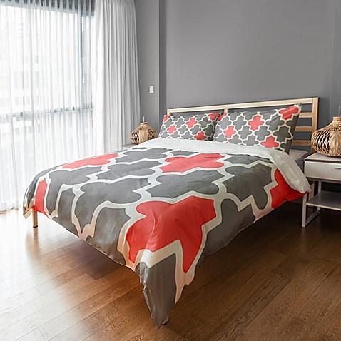 Fun And Preppy Quatrefoil Duvet Cover Bed Bath Amp Beyond