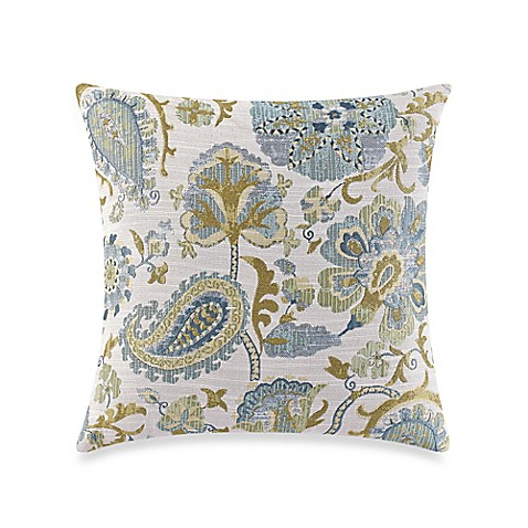 Make-Your-Own Pillow Saika Throw Pillow Cover in Green - Bed Bath & Beyond