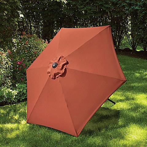 7 5 Foot Round Canopy Umbrella Bed Bath Amp Beyond