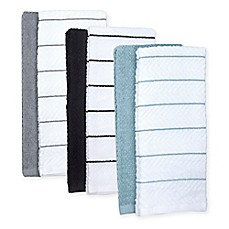 Image Of Chevron Jacquard Kitchen Towel (Set Of 8)