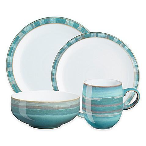 denby azure coast 4 piece dinnerware set bed bath beyond. Black Bedroom Furniture Sets. Home Design Ideas