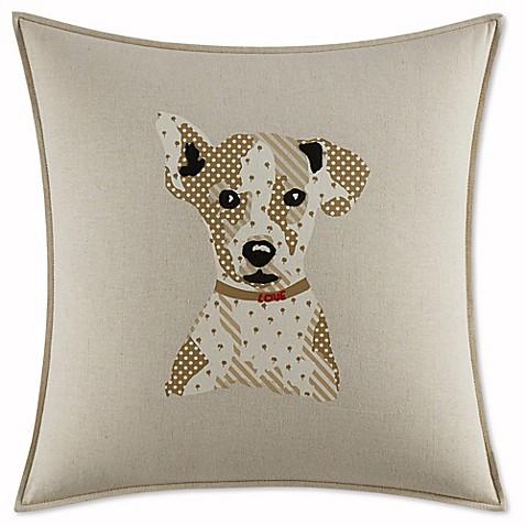 martini pillow ed ellen degeneres toluca dog square throw pillow in beige bed