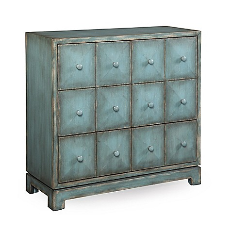 blue accent cabinet bassett mirror acadia accent cabinet in blue bed bath 12467