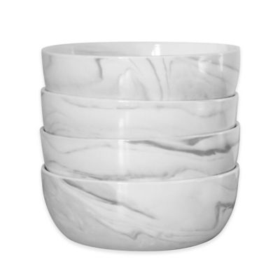 image of Artisanal Kitchen Supply® Coupe Marbleized Cereal Bowls (Set of 4)