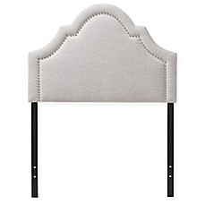 image of Rita Upholstered Button-Tufted Scalloped Twin Headboard