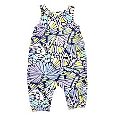 image of Margherita Kids Multicolor Butterfly Print Sleeveless Romper