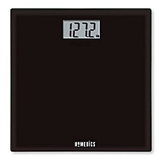 image of HoMedics® Glass Digital Bathroom Scale in Black