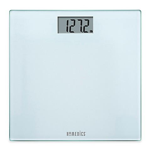 HoMedics® Glass Digital Bathroom Scale in Frosted White ...