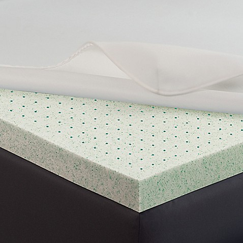 Image Of Theic Memory Gel 2 Inch Mattress Enhancer In White