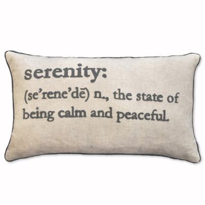 Serenity Definition Oblong Throw Pillow in Charcoal - Bed Bath & Beyond