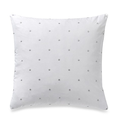 Throw Pillows One Kings Lane : kate spade new york Brushstroke Garden Bikini Dot Square Throw Pillow in Platinum - Bed Bath ...