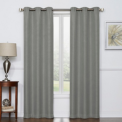Buy Camryn 63 Inch Room Darkening Grommet Top Window Curtain Panel Pair In Grey From Bed Bath