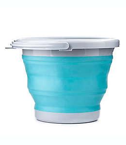 Cubeta plegable Kikkerland® de 5 L en aqua