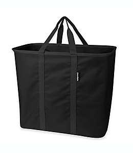 Bolsa plegable multiusos de poliéster SnapBasket™color negro