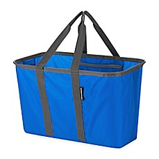 image of SnapBasket 17-Inch Collapsible Utility Tote in Blue/Cool Grey