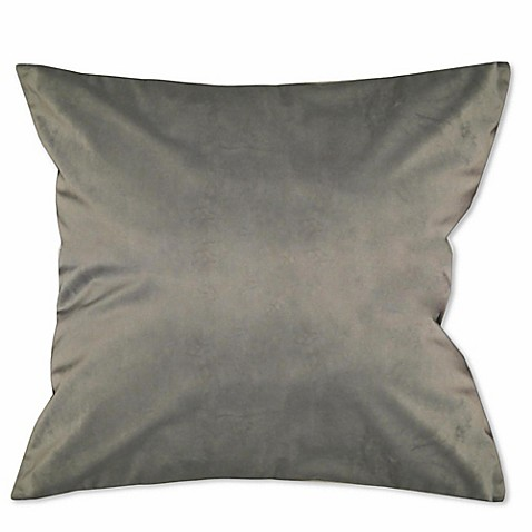 Buy Solid Knit Velvet Square Throw Pillow in Grey from Bed Bath & Beyond