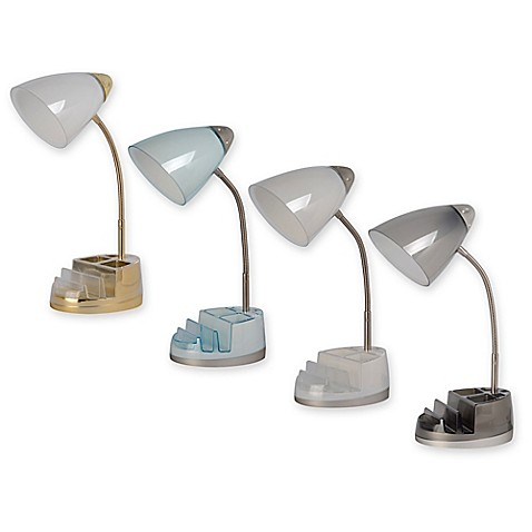 Equip Your Space Tablet Organizer Outlet USB Desk Lamp