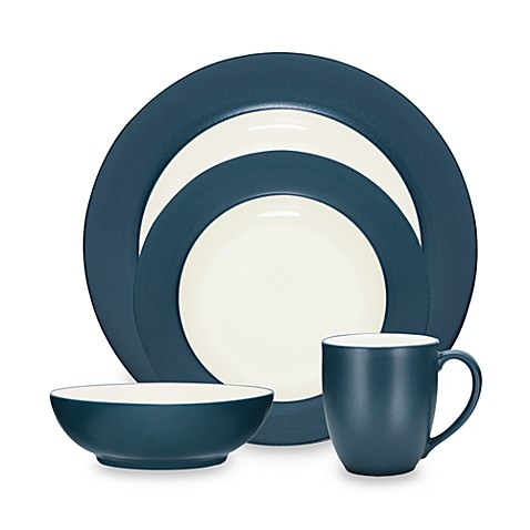 Noritake® Colorwave Rim Dinnerware Collection in Blue - Bed Bath ...