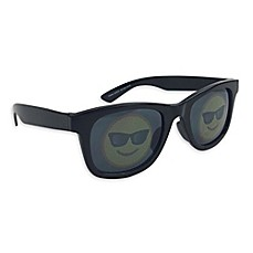 image of On The Verge Smiley Sunglasses in Black