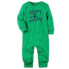 image of carter's® Happy Go Lucky St. Patrick's Day Jumpsuit