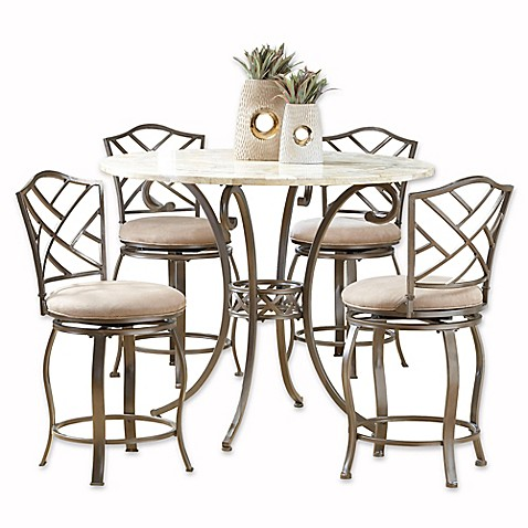Hillsdale Furniture Brookside 5 Piece Counter Height Dining Set With Hanover