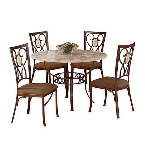 Hillsdale Furniture Brookside 5 Piece Round Dining Set With Oval Back Chairs