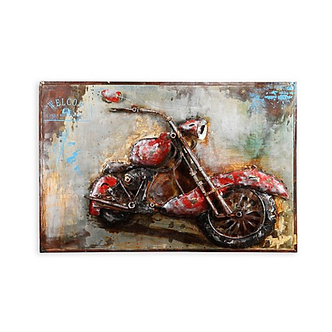 moe 39 s home collection motorcycle mania framed canvas wall art bed bath beyond. Black Bedroom Furniture Sets. Home Design Ideas