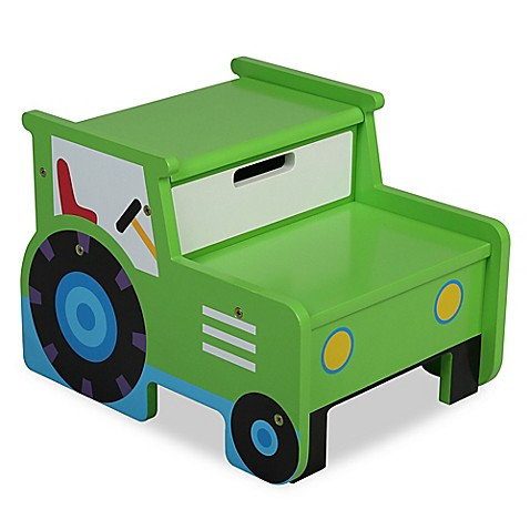 Stools Gt Olive Kids Tractor Step N Store In Green From