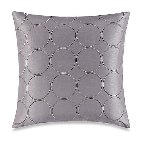 Buy Make-Your-Own-Pillow Manhattan Square Throw Pillow Cover in Grey from Bed Bath & Beyond