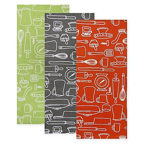 Park B Smith 174 Utensils Kitchen Towels Set Of 2 Bed